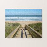 "Walkway to the beach jigsaw puzzle<br><div class=""desc"">Boardwalk entrance to a beach at Florida,  USA.</div>"