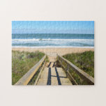 "Walkway to the beach jigsaw puzzle<br><div class=""desc"">Boardwalk entrance to a beach at Florida,  USA.</div>"