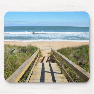 Beach Themed Walkway to the Beach Mouse Pad