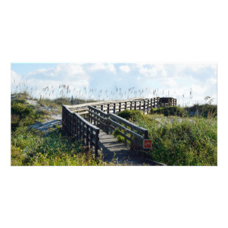 Walkway to the beach photo card