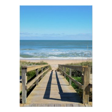 Beach Themed Walkway to the beach poster