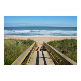 Walkway To The Beach Poster at Zazzle