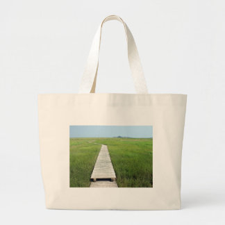 Walkway To The Sand Spit Large Tote Bag