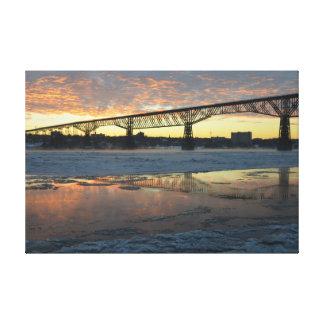 Walkway Winter Sunrise Canvas Print