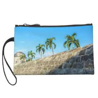 Wall and Palm Trees Wristlet Wallet