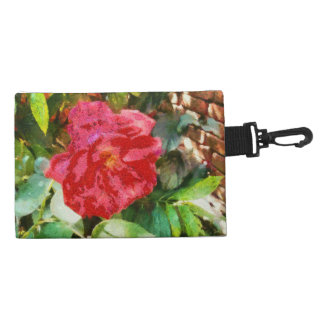 Wall and red rose accessories bag