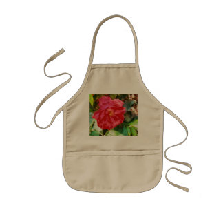 Wall and red rose kids' apron