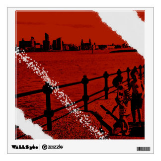Wall art over the water merseyside wall decal