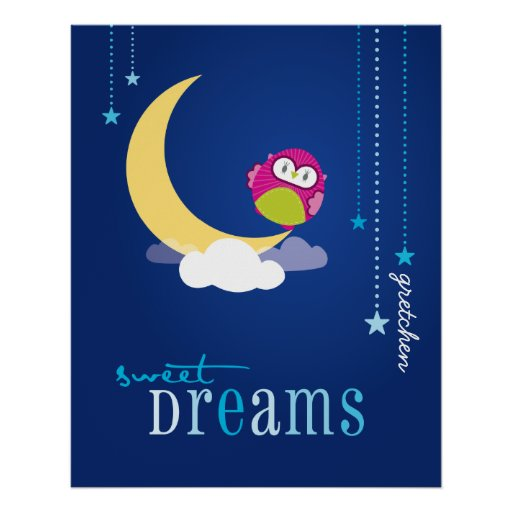 WALL ART :: owl - sweet dreams 1