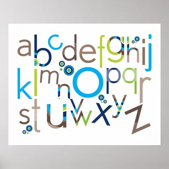 WALL ART :: TYPOGRAPHY - trendy alphabet 3