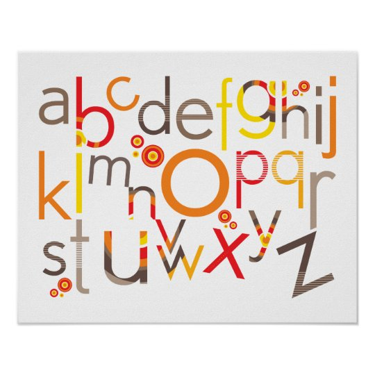 WALL ART :: TYPOGRAPHY - trendy alphabet 3