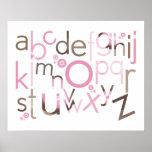 WALL ART :: TYPOGRAPHY - trendy alphabet 5 Poster