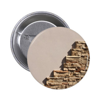 Wall at home with free space beige and decorative 2 inch round button