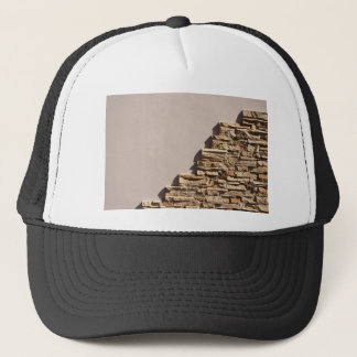Wall at home with free space beige and decorative trucker hat