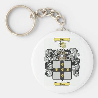 Wall Basic Round Button Keychain
