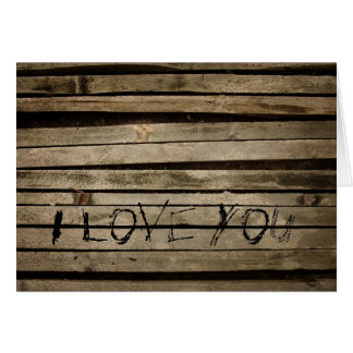 Wall Boards I Love You Card