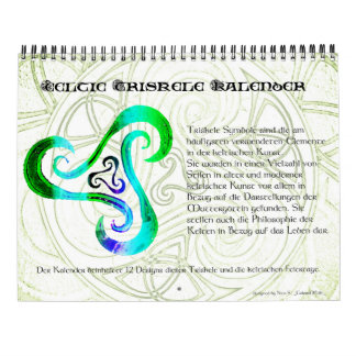 Wall calendar Celtic Triskele   Celtic holidays