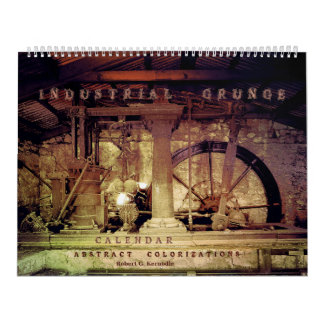 Wall Calendar Industrial Grunge