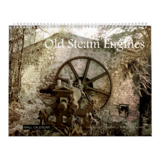 Wall Calendar Old Steam Engines