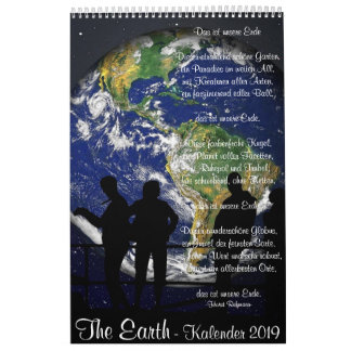 "Wall calendar ""The Earth"" with quotations"
