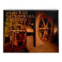 Wall Calendar Vintage Industrial Engines