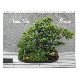 Wall Calendar With Bonsai