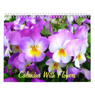 Wall Calendar With Flowers