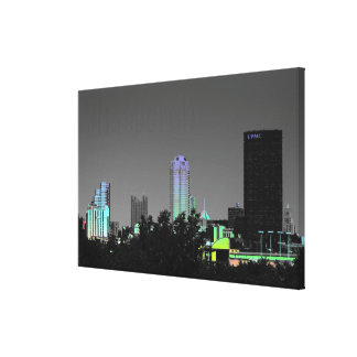 Wall Canvas-Photo-Retro-Pittsburgh-Skyline Canvas Print