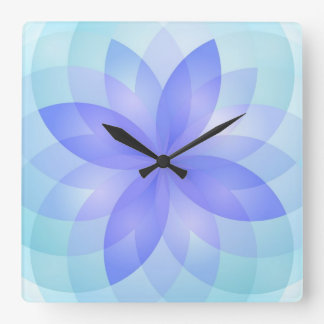Wall Clock abstract lotus flowers