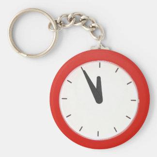 Wall Clock Basic Round Button Keychain