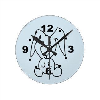wall clock bunny blue for boy