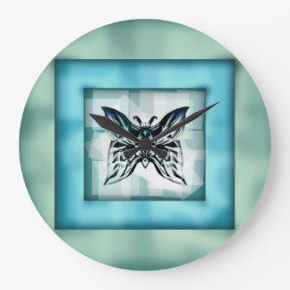 Wall clock Butterfly Frame