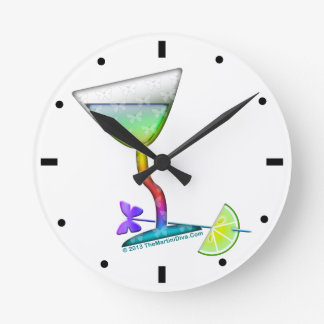 WALL CLOCK - BUTTERFLY MARTINI