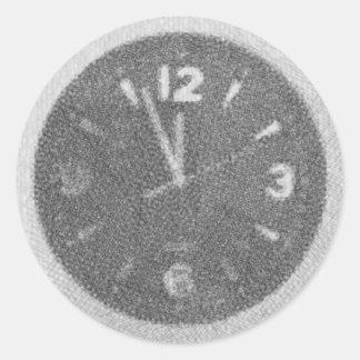 Wall Clock Canvas Sketch on Round Sticker