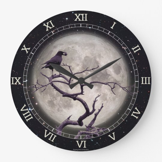 Crow and Moon Raven Night Gothic Fantasy Stunning Giant Poster Wall Art Print