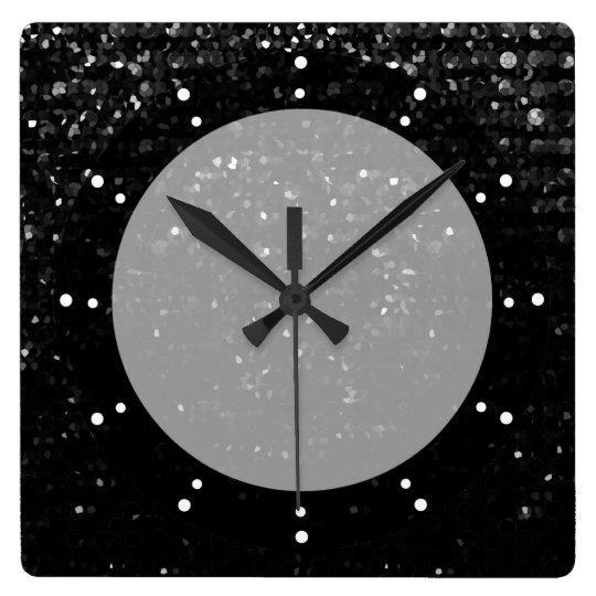 Wall Clock Crystal Bling Strass Zazzle Com
