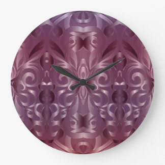 Wall Clock Floral abstract background