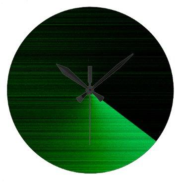 McTiffany Tiffany Aqua Wall Clock for Interior Decoration in Green