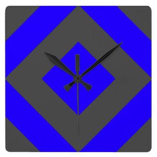 Wall Clock, Grey and Blue Design Square Wall Clock
