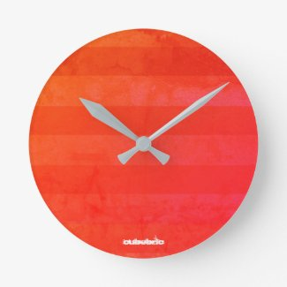 Wall Clock Hot Summer Cubebric
