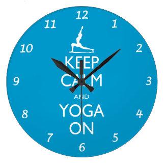Wall Clock - Keep Calm and Yoga On