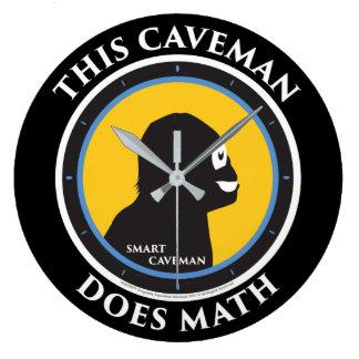 Wall Clock Math Smart Caveman