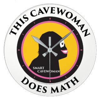 Wall Clock Math Smart Cavewoman