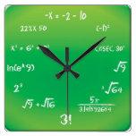 Wall Clock - Maths Pop Quiz Clock at Zazzle