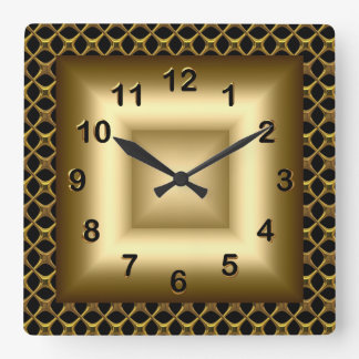 Wall Clock Metal Look Black Bronze Gold Wall Clock