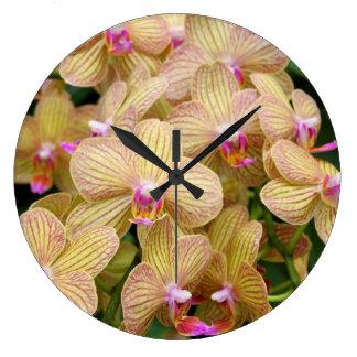 Wall Clock - Moth Orchid