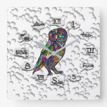 Wall clock - Owl
