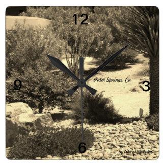 Wall Clock, Palm Springs, Ca Square Wall Clock