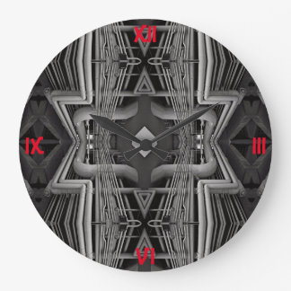 Wall Clock; Pipe Pattern Design 01 Large Clock
