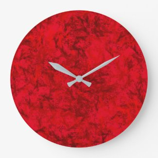 Wall Clock Red Sun